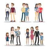 Στάδια ζωής ζεύγους ελεύθερη απεικόνιση δικαιώματος