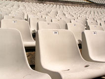 στάδιο ποδοσφαίρου εδρών Στοκ Φωτογραφία