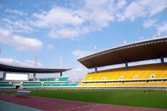 στάδιο ποδοσφαίρου παι&chi Στοκ φωτογραφία με δικαίωμα ελεύθερης χρήσης