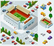 στάδιο ποδοσφαίρου διανυσματική απεικόνιση