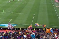Στάδιο Nou στρατόπεδων, Βαρκελώνη, Ισπανία - 2 Σεπτεμβρίου 2018 στοκ φωτογραφία με δικαίωμα ελεύθερης χρήσης