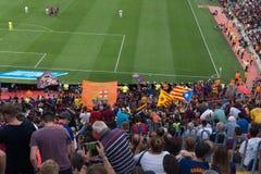 Στάδιο Nou στρατόπεδων, Βαρκελώνη, Ισπανία - 2 Σεπτεμβρίου 2018 στοκ εικόνα με δικαίωμα ελεύθερης χρήσης