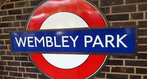 Στάδιο Wembley, πάρκο Wembley, το σπίτι του αγγλικού ποδοσφαίρου Στοκ φωτογραφία με δικαίωμα ελεύθερης χρήσης