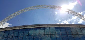 Στάδιο Wembley, το σπίτι του αγγλικού ποδοσφαίρου Στοκ Εικόνα