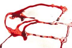 Στάζοντας αίμα που απομονώνεται στο λευκό διανυσματική απεικόνιση