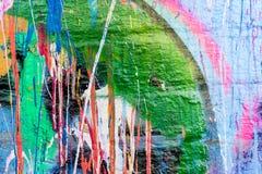 Στάζοντας τοίχος γκράφιτι χρωμάτων Στοκ φωτογραφία με δικαίωμα ελεύθερης χρήσης