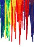 στάζοντας χρώμα Στοκ Εικόνες