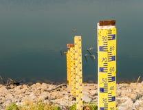 Στάθμη ύδατος στη δεξαμενή Στοκ Εικόνες