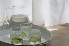 Στάμνα και γυαλιά νερού Στοκ εικόνα με δικαίωμα ελεύθερης χρήσης