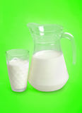 Στάμνα με το γάλα Στοκ εικόνα με δικαίωμα ελεύθερης χρήσης