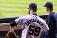 Στάμνα Kevin Quackenbush των San Diego Padres Στοκ εικόνες με δικαίωμα ελεύθερης χρήσης