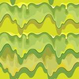 Στάξιμο του πράσινου slime διανυσματικού άνευ ραφής σχεδίου διανυσματική απεικόνιση