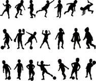 Στάσεις σκιαγραφιών αγοριών, Στοκ Εικόνες