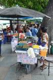 Στάσεις τροφίμων σε Kanchanaburi Στοκ Εικόνες