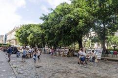 Στάσεις Plaza de Armas στην Αβάνα Στοκ φωτογραφία με δικαίωμα ελεύθερης χρήσης