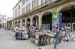Στάσεις Plaza de Armas στην Αβάνα Στοκ εικόνες με δικαίωμα ελεύθερης χρήσης