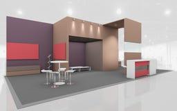 Στάση έκθεσης στα καφετιά και μπεζ χρώματα τρισδιάστατο Rendring Στοκ Εικόνα