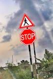 Στάση Ακολουθήστε τους κανόνες Στοκ Εικόνες
