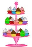στάση απεικόνισης κέικ cupcakes τ&rh ελεύθερη απεικόνιση δικαιώματος
