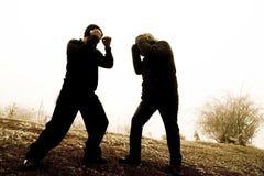 στάση ατόμων φρουράς πάλης Στοκ Εικόνες