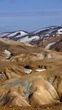 Στάση βουνών Kerlingarfjöll Στοκ Φωτογραφίες