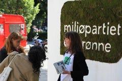 Στάση εκστρατείας Πράσινου Κόμματος στοκ εικόνα με δικαίωμα ελεύθερης χρήσης
