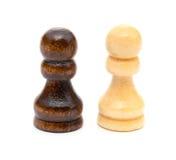 Στάση ενέχυρων σκακιού στο λευκό Στοκ φωτογραφία με δικαίωμα ελεύθερης χρήσης