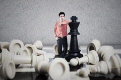 Επιχειρησιακή έννοια νικητών σκακιού Στοκ εικόνα με δικαίωμα ελεύθερης χρήσης