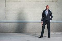 Στάση επιχειρησιακών ατόμων αφροαμερικάνων Στοκ Φωτογραφία