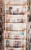 Στάση εφημερίδων Στοκ Εικόνες