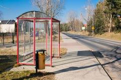 Στάση λεωφορείου καμία οδός Στοκ φωτογραφίες με δικαίωμα ελεύθερης χρήσης