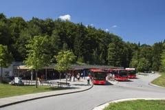 Στάση λεωφορείου σε Kehlstein, Obersalzberg, Γερμανία Στοκ Φωτογραφία