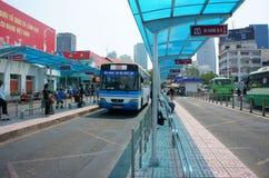 Στάση λεωφορείου του Ho Chi Minh Στοκ φωτογραφία με δικαίωμα ελεύθερης χρήσης
