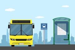 Στάση λεωφορείου διανυσματική απεικόνιση