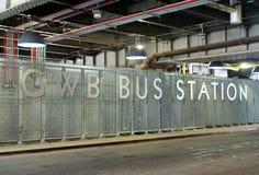 Στάση λεωφορείου GWB στοκ εικόνα