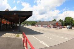 Στάση λεωφορείου Vimperk, Δημοκρατία της Τσεχίας Στοκ φωτογραφίες με δικαίωμα ελεύθερης χρήσης