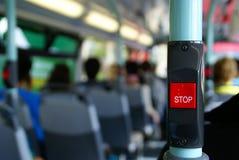 στάση κουμπιών διαδρόμων στοκ εικόνα