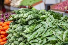 Στάση λαχανικών στην Ασία με τα καρότα αγγουριών Στοκ Φωτογραφία