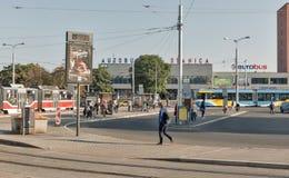 Στάση λεωφορείου σε Kosice, Σλοβακία Στοκ φωτογραφία με δικαίωμα ελεύθερης χρήσης