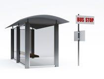 στάση λεωφορείου Στοκ Εικόνα