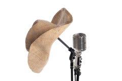 στάση μικροφώνων καπέλων Στοκ εικόνες με δικαίωμα ελεύθερης χρήσης