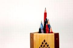 στάση μολυβιών πεννών Στοκ Εικόνες