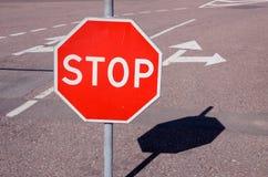 στάση οδικών σημαδιών Στοκ φωτογραφία με δικαίωμα ελεύθερης χρήσης
