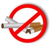 Στάση που χρησιμοποιεί τα ναρκωτικά, τσιγάρα - αυτοκόλλητη ετικέττα Στοκ Φωτογραφίες