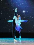 Στάση σε ένα πόδι-βασικό εκπαιδευτικό μάθημα χορού Στοκ φωτογραφία με δικαίωμα ελεύθερης χρήσης