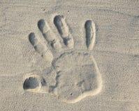 στάση σημαδιών άμμου Στοκ Εικόνες
