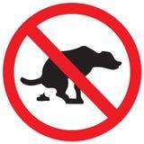 στάση σημαδιών σκυλιών Στοκ Εικόνες