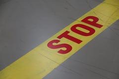 στάση σημαδιών Στοκ Φωτογραφία