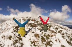 Στάση στο κεφάλι πάνω από Carpathians στοκ φωτογραφία