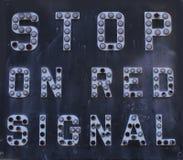Στάση στο σήμα Στοκ εικόνες με δικαίωμα ελεύθερης χρήσης